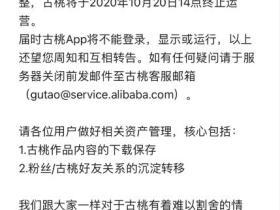 汉服交流平台古桃APP宣布本月20日终止运营