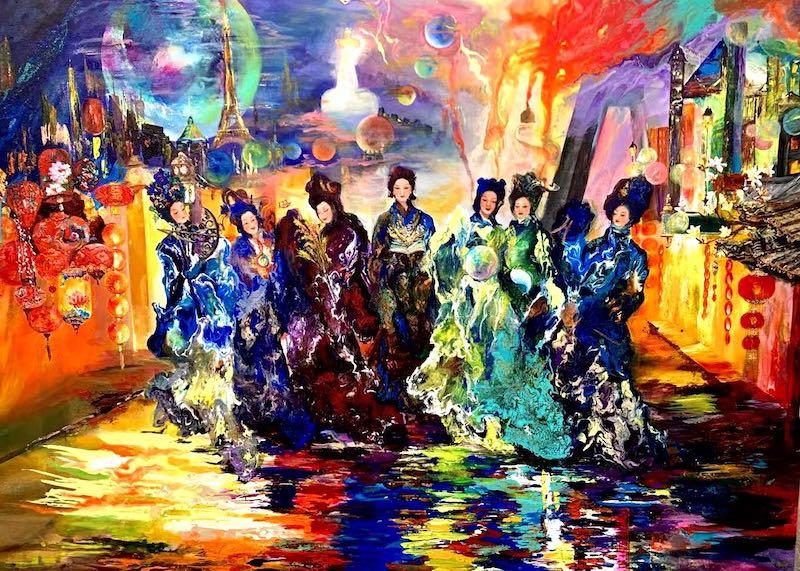 画家黄彬彬受邀参展法国大皇宫艺术财富沙龙展