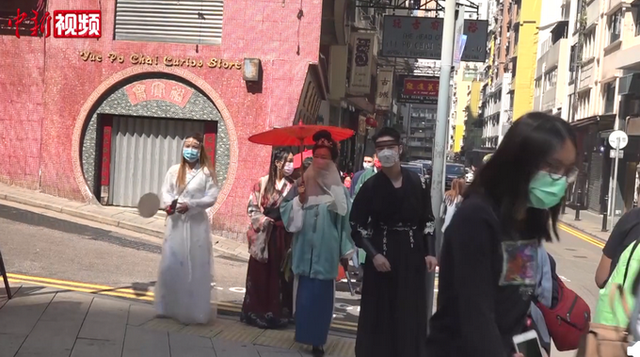 香港年轻人穿汉服庆新春