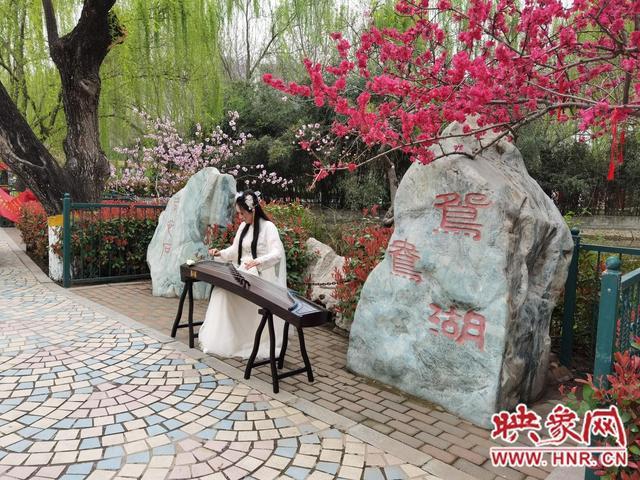 郑州市动物园桃花文化节开幕 身穿汉服可免票入园